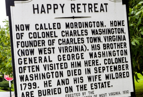 HISTORY-marker of Happy Retreat CT